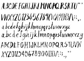 Set of Font brush illustration Hand drawn Sketch line vector eps10