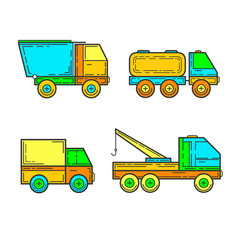 Children's toys, trucks