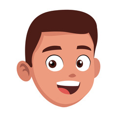 Boy face cartoon icon vector illustration graphic design