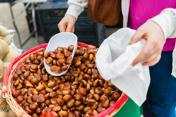 Buying Chestnuts at the Open Market
