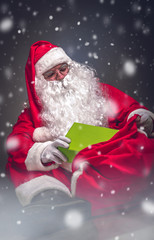 Santa Claus who bring present for kids.