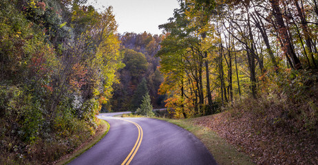 Saturday drive on the blue ridge parkway in North Carolina