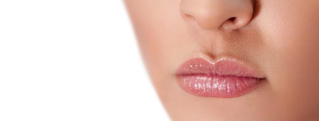 Female lips close up
