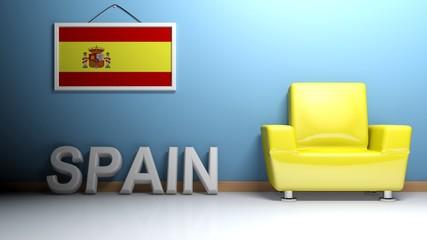 Room of Spain - 3D rendering