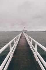 Pier during a rain