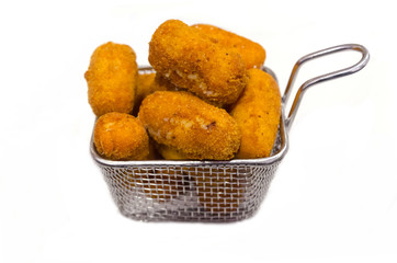 homemade croquettes isolated over white