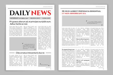 Newspaper template design