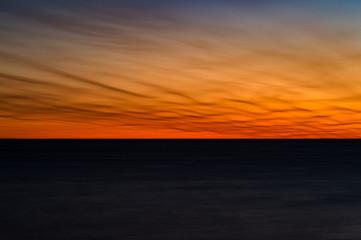 静岡県沼津市の海岸の夕焼け