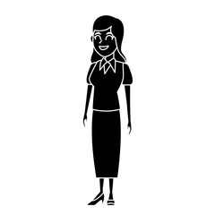 School teacher cartoon icon vector illustration graphic design