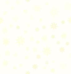 Yellow snowflake pattern. Seamless vector