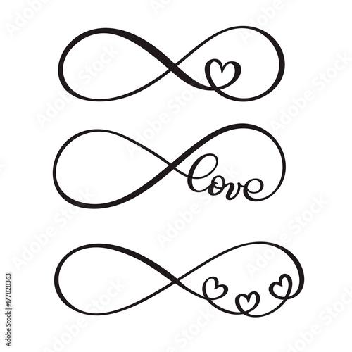 set of word love original custom hand lettering handmade