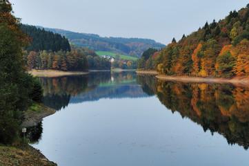 Herbst an Aggertalsperre - Genkeltal