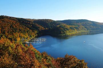 Biggetalsperre im Herbst - Waldenburger Bucht