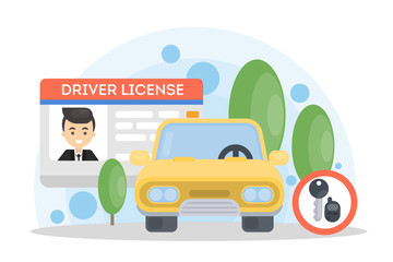 Man's driver license.