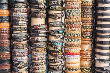 Showcase of bracelets on the market