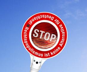 STOP, Rechtspopulismus ist keine Alternative für  Deutschland!