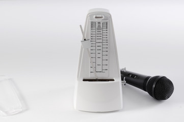 Metronome and microphone