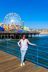Pacific Park  at Santa Monica Beach, Los Angeles, California, USA