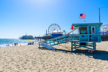 Santa Monica Beach, Los Angeles, California, USA