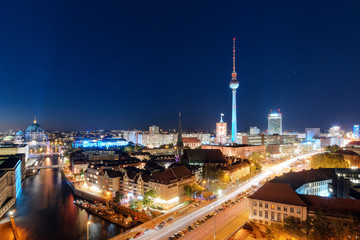 The best view on Berlin in the evening
