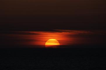 Wall Murals Cuban Red Sonnenuntergang am Meer
