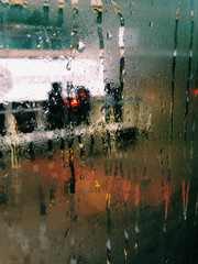 Street Life Through Rain