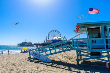 Santa Monica Beach, Los Angeles, California, USA Wall mural