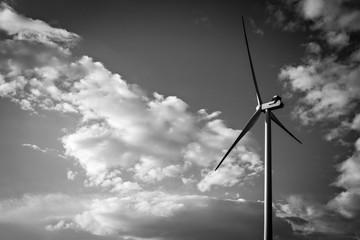 Wind turbine. Modern source of electric energy