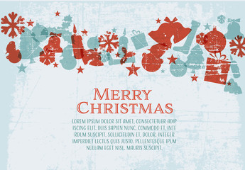 Christmas Card with Grunge Background 1