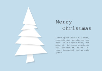 Christmas Card with Paper Cut-Out Tree