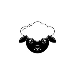 Sheep head or face icon