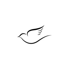 Silhouette dove icon