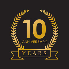 10th anniversary years gold