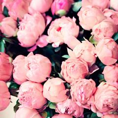 Vintage bouquet of roses in Paris