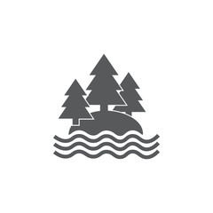 Lake and forest icon