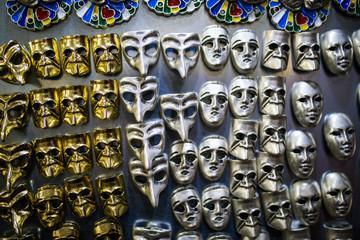 Venice mask isolated on black background