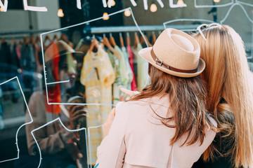 Girlfriends window shopping
