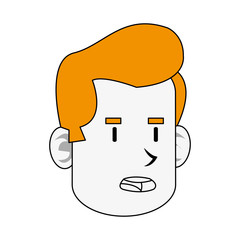 Angry guy cartoon image vector illustration design