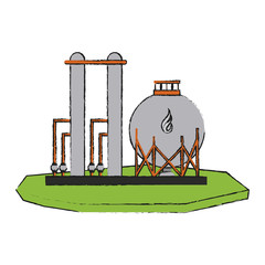 natural gas refinery icon image vector illustration design