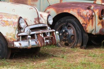 Rusted Vehicles Sit In North Georgia Auto Junkyard