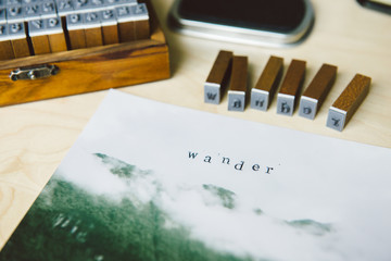 Craft Project: using rubber stamps to write on photographs