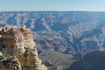 Cliff and Overlook to Grand Canyon
