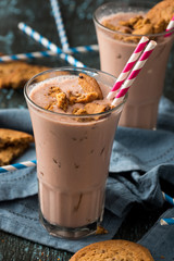Chocolate Milkshake with Cookie Topping