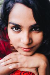 beautiful bengali woman posing
