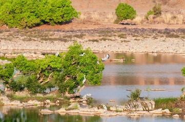 Panna river and rivebed at Panna National Park, Madhya Pradesh, India