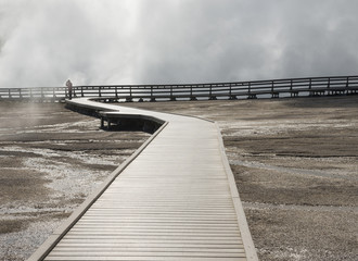 Midway Geyser Basin boardwalk; Yellowstone National Park