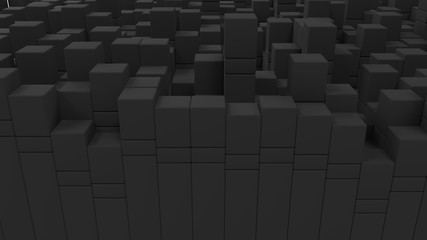 Wall of grey cubes