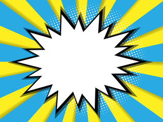 abstract blank comic book, pop art background
