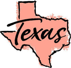 Hand Drawn Texas State Design