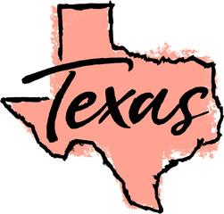 Hand Drawn Texas State Design